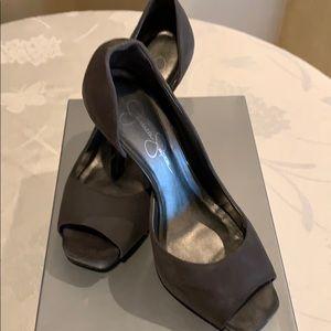 Jessica Simpson gray suede Josette heel